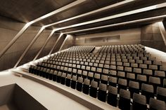 Image 9 of 18 from gallery of Alper Derinboğaz, Salon Designs PARKOPERA Cultural Center for Antalya. Courtesy of Alper Derinboğaz, Salon Auditorium Architecture, Auditorium Design, University Architecture, Education Architecture, Landscape Architecture, Home Theater Rooms, Cinema Room, Home Theater Design, Antalya