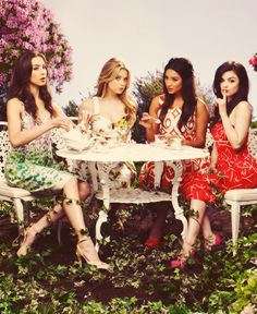 Troian, Ashley, Shay and Lucy; stars of Pretty Little Liars. #PLL