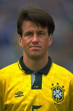 Portrait of Dunga of Brazil before a US Cup match against the USA. Brazil won the match 2-0. 1993