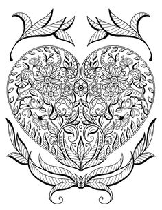 Heart Mandalas Coloring Book | Coloring | Coloring pages, Adult ...