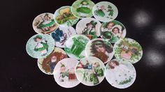15 edible rice paper assorted Vintage st. patrick's cupcake or cookie toppers by ohSEWcuddly on Etsy