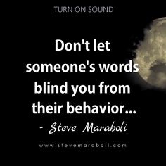 Dont let someones words blind you from their behavior... #tattoo quotes about life Tattoo Quotes About Life, Life Quotes, Don't Let, Let It Be, Blind, Behavior, Words, Quotes About Life, Behance