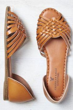 AEO Women's Huarche Peep Toe Flat