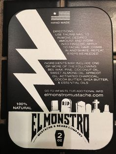 El Monstro Mustache Wax: Formulated from 100% all natural ingredients for an ultra firm monster hold.
