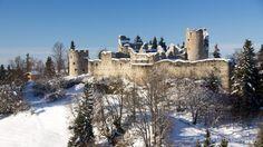 Auf Tour im #Allgäu zu den Ruinen Hohenfreiberg und Eisenberg - Schneeschuhtour