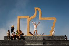 """Like 4 Real - More of a social statement than an art piece, Like 4 Real was created by Dutch artist Dadara. In our quest for """"Enlikenment,"""" he says, the thumbs-up symbol has become a kind of insidious currency."""