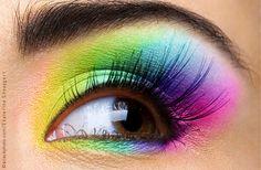 Makeup Artist ^^ | Neon eyes  https://pinterest.com/makeupartist4ever/