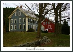 Vermont Farmhouse~pretty blue