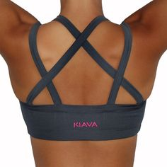 Endurance Bra Charcoal Grey KIAVA Clothing Sports Activewear Workout Clothing Apparel – KIAVAclothing