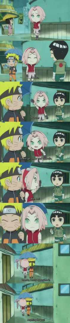 NaruSaku moment - poor Lee by ~NarutoXSakuraLOVE on deviantART