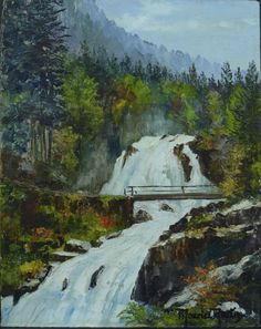 Maurice Martin - Cascade du Lutour, 1953 Rivers, Painting, Art, Art Background, Painting Art, Kunst, River, Paintings, Performing Arts