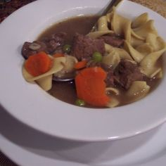 A Crock Full of Sunday Southern Beef and Noodle Soup
