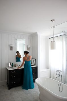 Hinkley Lighting Lanza Bath Sconces in Brushed Nickel with Etched Opal Glass and Hampton collection pendant