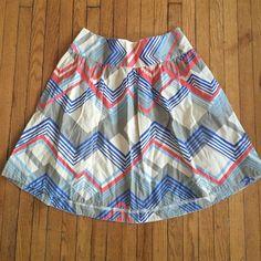 Line patter skirt Line pattern skirt . Never worn . Good material Merona Skirts
