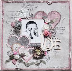 n2s : one gorgeous layout!! CraftHobby Oliwiaen: Pełen miłości / Filled With Love