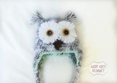 Ravelry: Snowy Owl Hat Crochet Pattern pattern by Cozy Cute Crochet