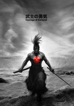 Courage of Samurai by `Artgerm on deviantART
