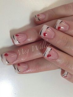 Best Valentine Nail Art Designs - Page 57 of 85 - NailCuco Fancy Nails, Pretty Nails, My Nails, Fingernail Designs, Nail Art Designs, Nails Design, Nail Deco, Valentine Nail Art, Fabulous Nails