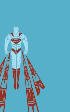 Superman - Superhero Art With a Native American Style Twist- another one of my pieces