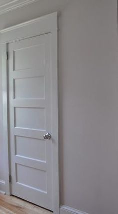 Shaker style pantry door face-lift idea!