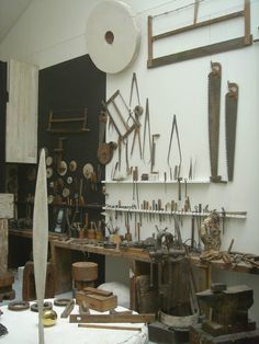 Galen Lowe: Artists' Wall...recreated studio of Constantin Brancusi adjacent to the Pompidou at the Atelier Brancusi.