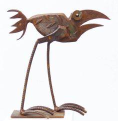 Vögel Online Shop – Chris Kircher Junk Metal Art, Metal Yard Art, Scrap Metal Art, Junk Art, Metal Art Sculpture, Contemporary Sculpture, Metal Sculptures, Abstract Sculpture, Bronze Sculpture