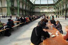 4. Rirkrit Tiravanija Soup/No Soup 2012 happening Grand Palais Paris #story #table #atthetable