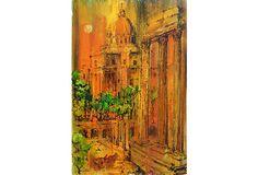 "Ruins of Rome 1967 By: ""Feuerborn"" - Joseph Feuerborn (American, 1929-2011) 23.75""L x 36""H ($1,450.00)  $599.00 OneKingsLane.com"
