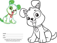 pupcake | Strawberry Shortcake Coloring Activity featuring Pupcake the Dog