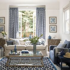 Bring home the relaxed mood of the Med with a simple combo of blue and white