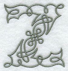 Celtic Knotwork Letter Z - 3 Inch