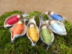 The Enchanted Tree: Milkweed pod babies- Nature crafts revisited