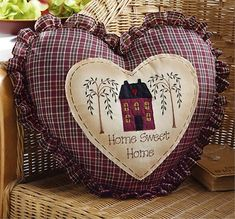 Image Detail for - Country Heart Decorative Pillow