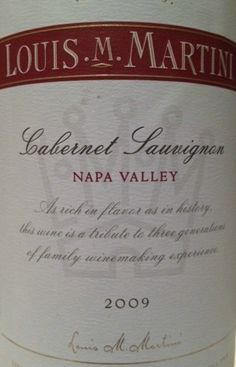 2009 Louis M. Martini Cabernet Sauvignon Napa Valley