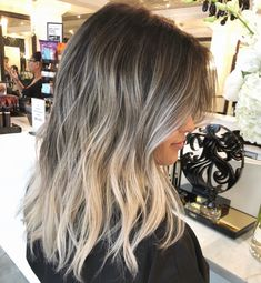 Balayage Ombré Hair - from brunnette to blonde!