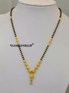 Indian Gold Jewelry Near Me Info: 9453728341 Gold Mangalsutra Designs, Gold Jewellery Design, Fancy Jewellery, Fashion Jewellery, Gold Jewelry Simple, Simple Necklace, Necklace Set, Beaded Jewelry, Silver Jewelry