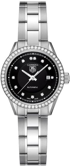 TAG Heuer Women's WV2412.BA0793 Carrera Diamond Accented Stainless Steel Watch