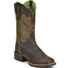 SVL7206 Justin Women's Sliver Puma Western Boots - Chocolate
