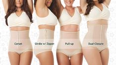 Bellefit gives women four flexible girdle options for recovery from both natural and C-section deliveries: The Dual-Closure (aka Double Corset), the Pull-up Girdle, The Girdle with Zipper and the Corset. See which style is right for you at: www.bellefit.com
