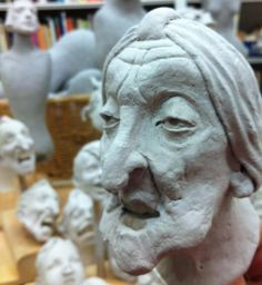 Studio shot of work in progress taken from Facebook page of Ronnie Burkett Theatre of Marionettes, 2013.