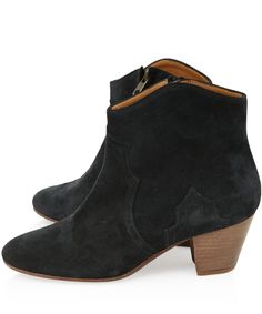 Isabel Marant Grey Dicker Suede Ankle Boots | Women's Shoes | Liberty.co.uk