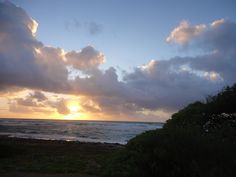 This sunrise shot was taken on Day 1 of our Kauai trip. What a way to start the day. Just a short walk from the condo to the beach and there it is!