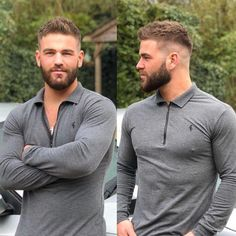 hair and beard styles Herrenschnitte 861032022492401058 Mens Hairstyles With Beard, Cool Hairstyles For Men, Hairstyles Haircuts, Haircuts For Men, Mens Undercut Hairstyle, Men Hairstyle Short, Hipster Hairstyles Men, Military Haircuts, Classic Mens Hairstyles