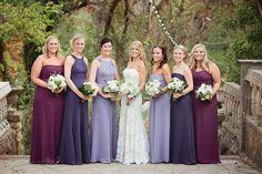 Different shades of purple. All by Priscilla of Boston So pretty!
