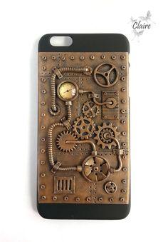 iPhone 6+ Case, iPhone Case, Steampunk Case, Steampunk Phone Case, Steampunk…