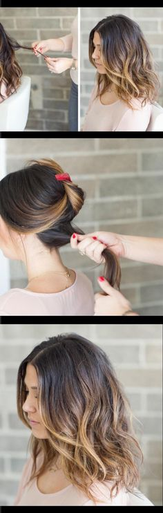 Quick and Easy Hairstyles for Straight Hair - How to Style a Lob or Long Bob - Popular Haircuts and Simple Step By Step Tutorials and Ideas for Half Up, Short Bobs, Long Hair, Medium Lengths Hair, Bra (Hair Braids For Teens) Hairstyles For Medium Length Hair Tutorial, Braids For Medium Length Hair, Medium Length Hair Straight, Haircuts For Long Hair, Long Bob Hairstyles, Medium Hair Cuts, Long Hair Cuts, Diy Hairstyles, Medium Hair Styles