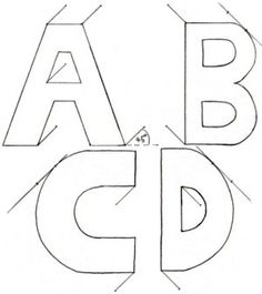 drawing 3 d letters