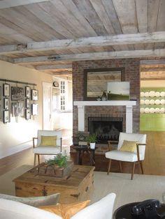 beautiful fireplace and sitting area