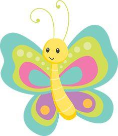 Jardim - Minus Cartoon Butterfly, Butterfly Clip Art, Cute Butterfly, Butterfly Wallpaper, Diy And Crafts, Crafts For Kids, Paper Crafts, Art Carte, Baby Kind
