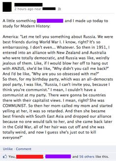 The cold war as told by Regina George. Proof that Mean Girls really does make everything better
